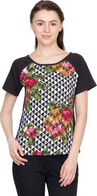 Golden Couture Casual Short Sleeve Printed Women's Multicolor Top