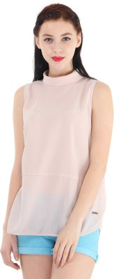 Pepe Jeans Casual Sleeveless Printed Women's Pink Top