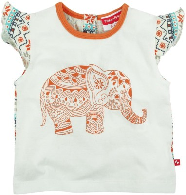 Fisher-Price Casual Short Sleeve Printed Girl's Multicolor Top