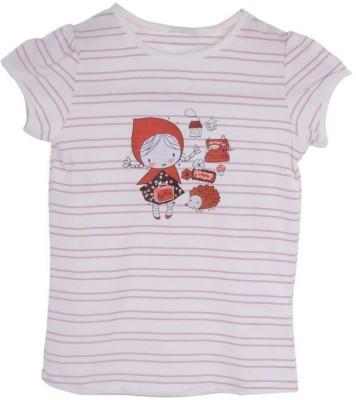 Joy N Fun Casual Short Sleeve Applique Girl's Purple, White Top