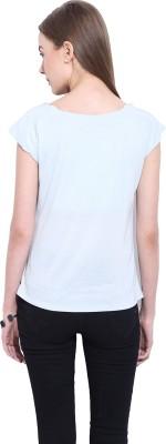 Leo Sansini Casual Short Sleeve Solid Women's Blue Top