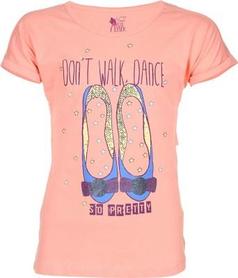 Miss Alibi by Inmark Casual Short Sleeve Printed Girl's Pink Top