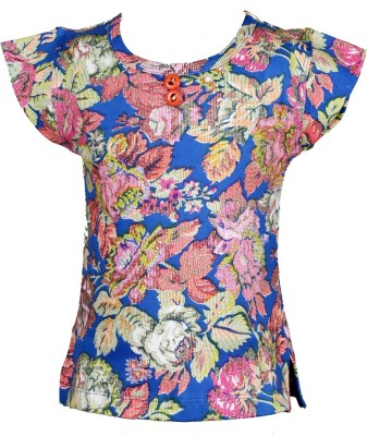 JG Fashion Casual Sleeveless Printed Girl's Multicolor Top