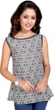 Vastrani Casual Sleeveless Printed Women...