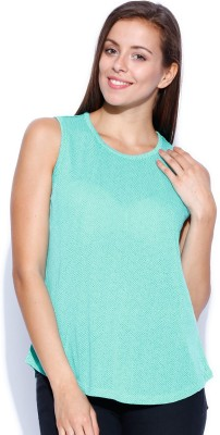 Levi's Casual Sleeveless Printed Women's Green Top
