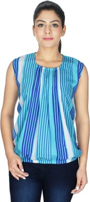 Fashion Hut Casual Sleeveless Solid Women's Light Blue Top