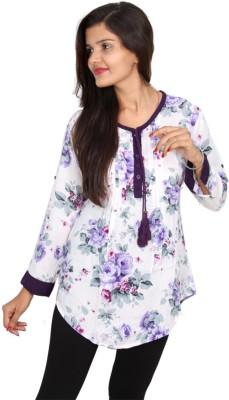 Vanya Enterprises Casual Full Sleeve Floral Print Women's Multicolor Top