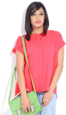 Avirate Casual Short Sleeve Solid Women's Pink Top