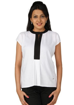 Karishma Casual Short Sleeve Solid Women's White Top