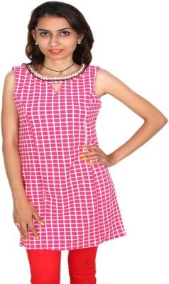 Vanya Enterprises Casual Sleeveless Geometric Print Women's Pink Top