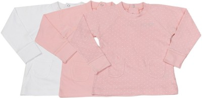 Day 2 Day Casual Full Sleeve Solid White, Pink Top