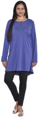 Entease Casual Full Sleeve Solid Women's Blue Top