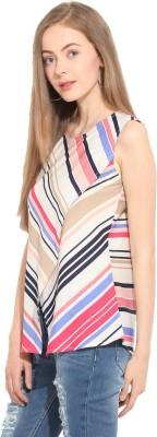 Lucero Casual Sleeveless Striped Women's Multicolor Top