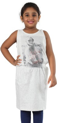 Pinky Ponky Casual Sleeveless Solid Girl's Grey Top