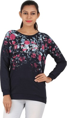 MA Casual Full Sleeve Printed Women's Blue Top