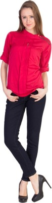 U.F.C. Collection Casual, Party Full Sleeve Solid Women's Red Top