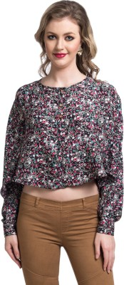 Uptownie Lite Party Full Sleeve Floral Print Women's Multicolor Top