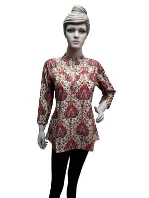 Sneharsh Festive, Casual 3/4 Sleeve Printed Women's Multicolor Top