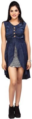 Carrel Casual Sleeveless Solid Women's Dark Blue Top