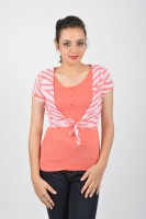 Merch21 Casual Short Sleeve Printed Women's Pink Top best price on Flipkart @ Rs. 298