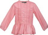 Lil Poppets Top For Party Cotton (Pink)