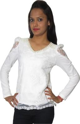 Modo Vivendi Formal Full Sleeve Solid Women's White Top