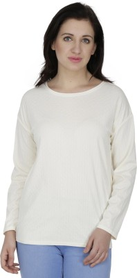 Svt Ada Collections Casual Full Sleeve Solid Women's White Top