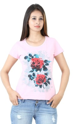 Groviano Casual Short Sleeve Printed Women's Pink Top