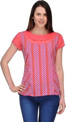 Dammifit Casual Short Sleeve Printed Women's Pink Top