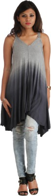 HERITAGE TYCOON Casual, Party Sleeveless Solid Women's Blue, Grey Top