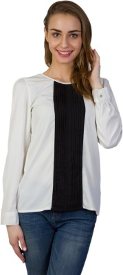 Today Fashion Casual Full Sleeve Solid Women's White Top