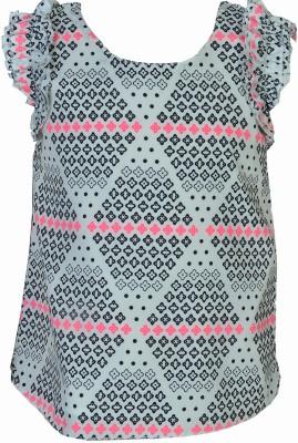 Pinehill Casual Sleeveless Printed Girl's Multicolor Top