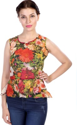 James Scot Lounge Wear Sleeveless Floral Print Women's Multicolor Top