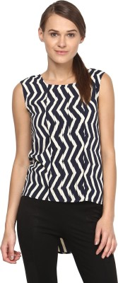 Annapoliss Casual Sleeveless Striped Women's Beige, Blue Top