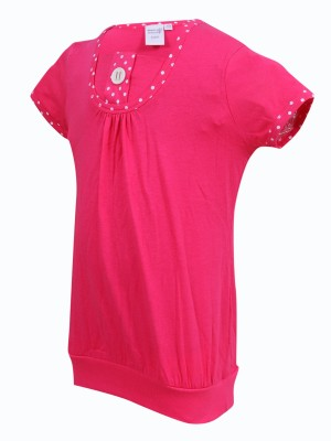 Most Wanted Casual Short Sleeve Embellished Girl's Pink Top