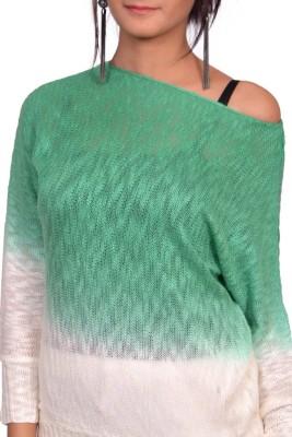 Vama Casual Full Sleeve Self Design Women's Green Top