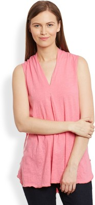 Anasazi Casual Sleeveless Solid Women's Pink Top