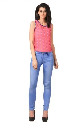 Sei Bello Casual Sleeveless Printed Women's Pink Top