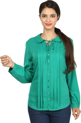 Charisma Casual Full Sleeve Solid Women's Green Top