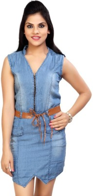 Carrel Casual, Party Sleeveless Solid Women's Blue Top
