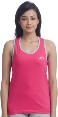 Nite Flite Casual Sleeveless Solid Women's Pink, Grey Top