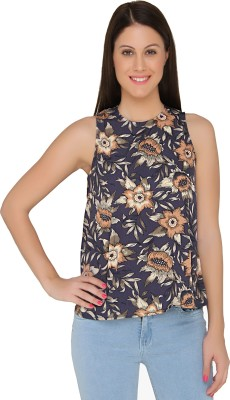 The Apparel Quotient Casual Sleeveless Floral Print Women's Multicolor Top