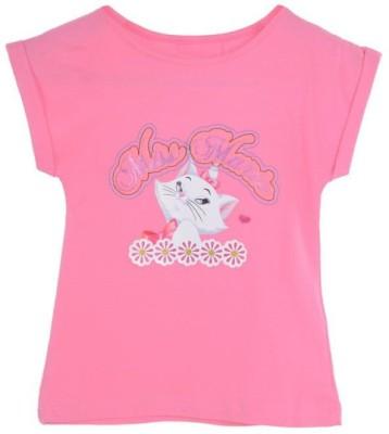 Joy N Fun Casual Short Sleeve Printed Girl's Pink Top