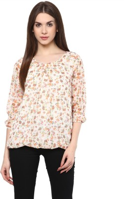 color cocktail Casual 3/4 Sleeve Printed Women's Multicolor Top
