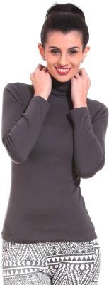 Saiints Casual Full Sleeve Solid Women's Black Top