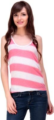 Ebry Casual Sleeveless Printed Girl's Pink Top