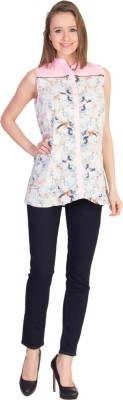 U.F.C. Collection Casual Sleeveless Printed Women's Pink Top
