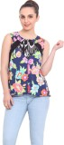 RSVP Cross Casual Sleeveless Floral Prin...