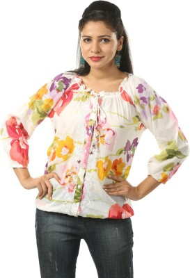 India Inc Casual 3/4 Sleeve Printed Women's Multicolor Top