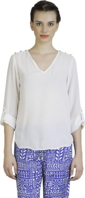 Vivante by VSA Casual Full Sleeve Solid Women's White Top